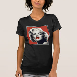 Red on Red Lips Marilyn T-Shirt