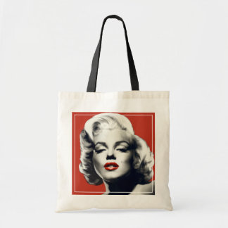 Red on Red Lips Marilyn Tote Bag