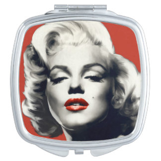 Red on Red Lips Marilyn Travel Mirrors