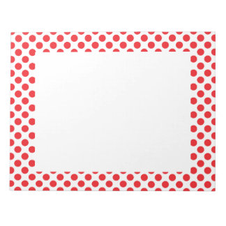 Red on White Polka Dot Notepad