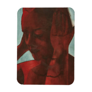 Red One Second Noise Rectangular Photo Magnet
