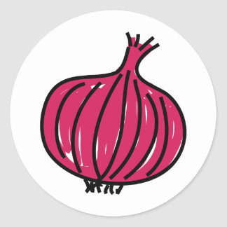 Red Onion Classic Round Sticker