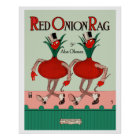 Red Onion Rag Poster