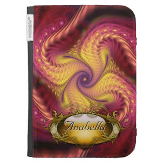 Red Opal personalized 2 Kindle Case