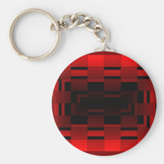 Red Optical Illusion Design CricketDiane Key Chains