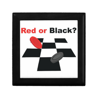 Red Or Black Small Square Gift Box