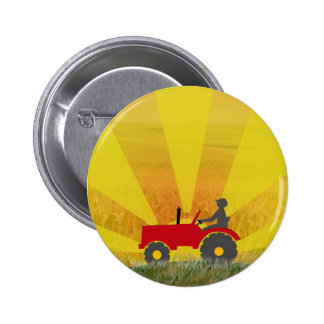 Red or Green Tractor Button