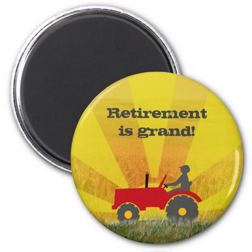 Red or Green Tractor Retirement Magnet