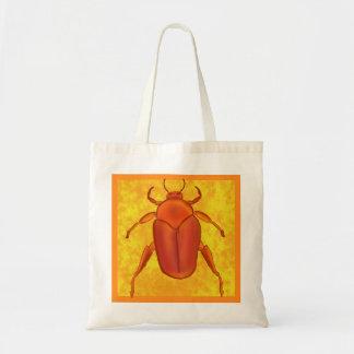 Red-Orange Beetle Budget Tote Bag