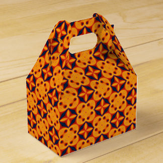 Red, Orange, Blue Geometric Abstract Pattern Favour Box