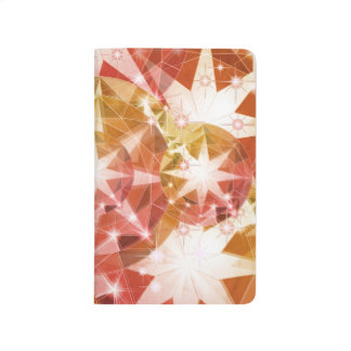 Red Orange Compass Gemstone Rhinestone Journals