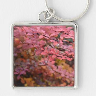 Red Orange Fall Foliage Autumn Leaves Nature Photo Key Ring