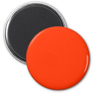 Red-Orange #FF3300 Solid Color 6 Cm Round Magnet