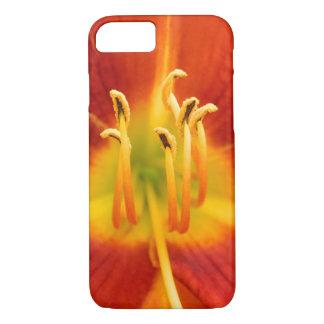 Red orange flaming lily macro photo iPhone 7 case