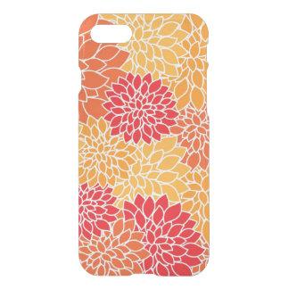 Red/Orange Floral Pattern Deflector iPhone 7 Case