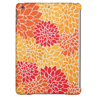 Red/Orange Floral Pattern iPad Air Hard Shell Case