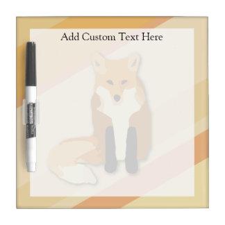 Red Orange Fox Dry-Erase Whiteboards
