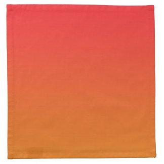 Red & Orange Ombre Napkin