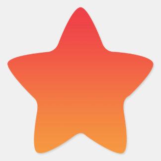 Red & Orange Ombre Star Sticker