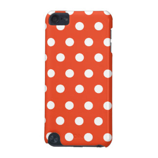Red Orange Polka Dot iPod Touch (5th Generation) Cases