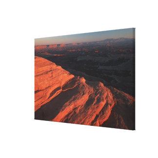 Red Orange Rock Side In Utah Canvas Print