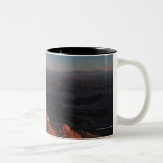 Red Orange Rock Side In Utah Two-Tone Coffee Mug
