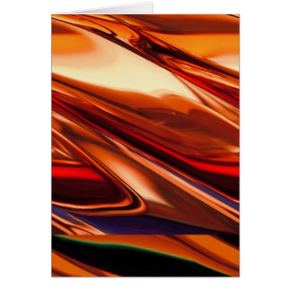Red Orange Shiny Surface Card