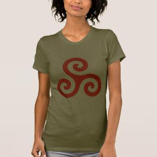 Red Orange Spiral Triskele T-shirts