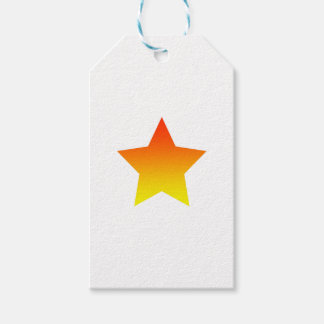 Red/Orange star Gift Tags