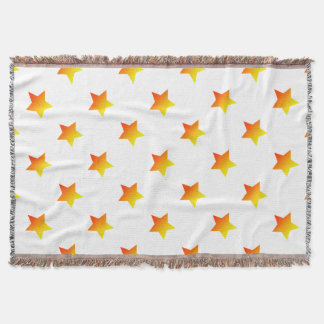 Red/Orange star Throw Blanket