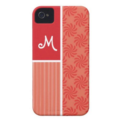 Red & Orange Swirls; Swirl iPhone 4 Cover