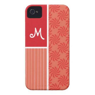 Red Orange Swirls Swirl iPhone 4 Cover