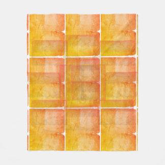 Red Orange Watercolor Silk Screen Print Pattern Fleece Blanket