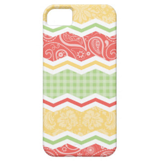 Red-Orange, Yellow, and Green Country Patterns iPhone 5 Case
