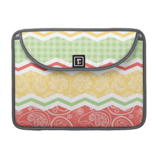 Red-Orange, Yellow, and Green Country Patterns MacBook Pro Sleeve