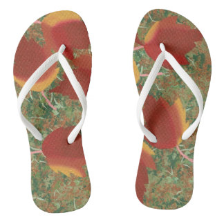 Red Orange Yellow Autumn Leaves FlipFlops