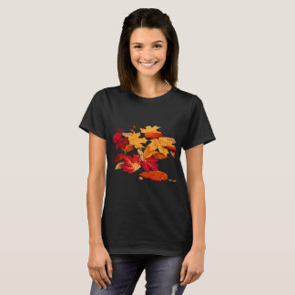 Red Orange Yellow Brown Autumn Leaves T-Shirt