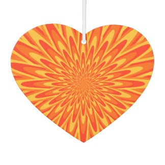 Red, Orange, Yellow Bursting Pattern Air Freshener