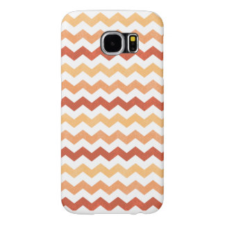 Red Orange Zig Zag Chevron Grunge Samsung Galaxy S6 Cases