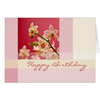 Red Orchid • Birthday Card