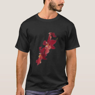 Red Orchid Flowers T-shirt