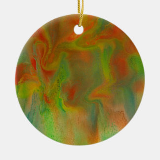 Red orchids christmas ornament