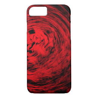 Red Organic Spiral1 - Apple iPhone Case