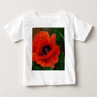 Red Oriental Poppy Baby T-Shirt