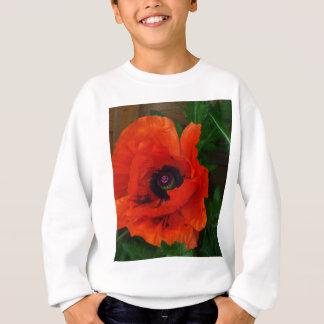 Red Oriental Poppy Sweatshirt
