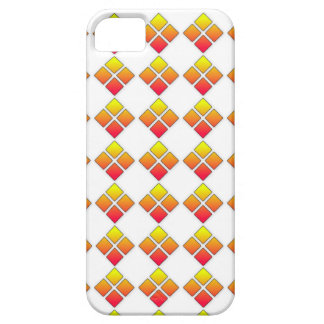 Red Ornage diamond 4 Square Pattern iphone 5 case