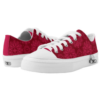 Red ornament low tops