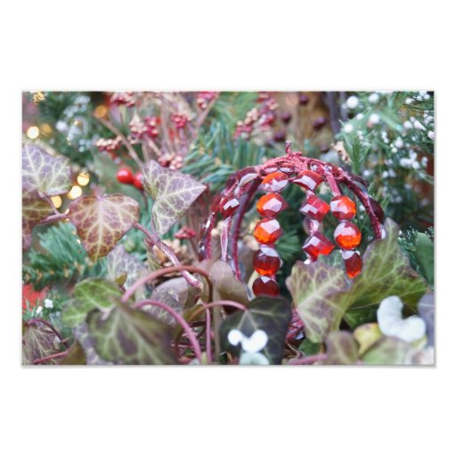 Red Ornament Photo Print