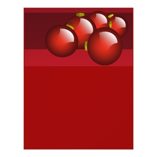 Red Ornaments Stationery Flyers