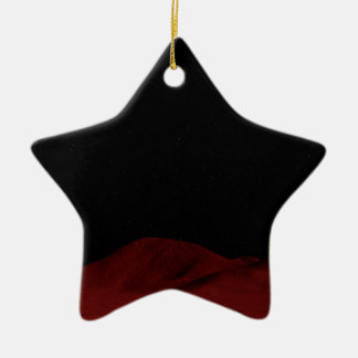 Red Outer Space Ceramic Star Decoration